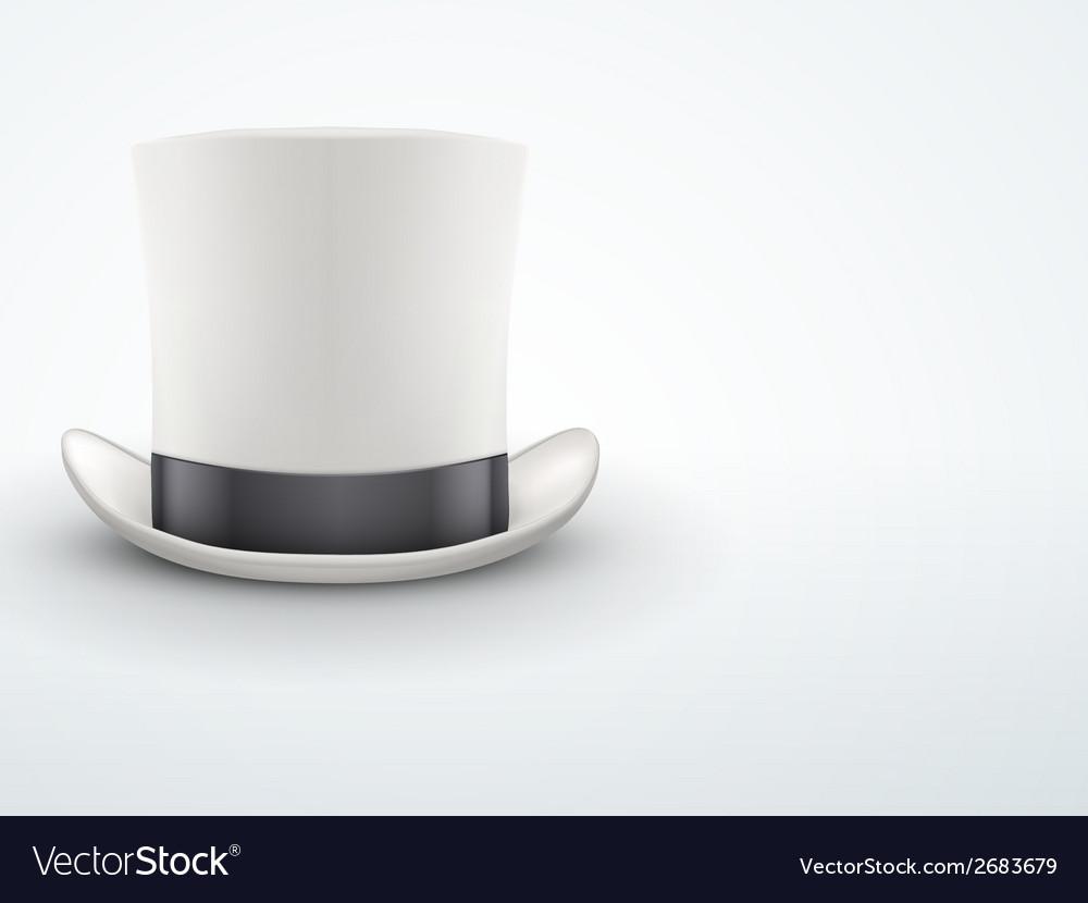 Light Background White gentleman hat cylinder with
