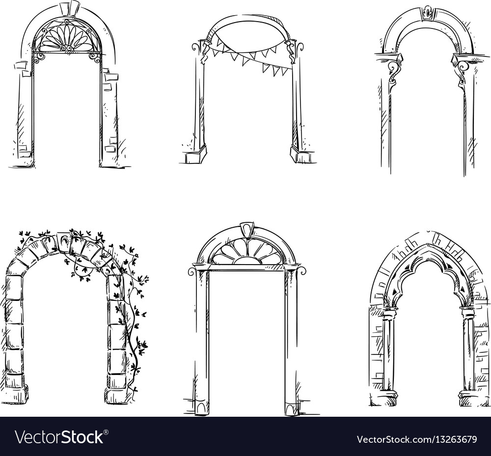 Set of arches architectural detail