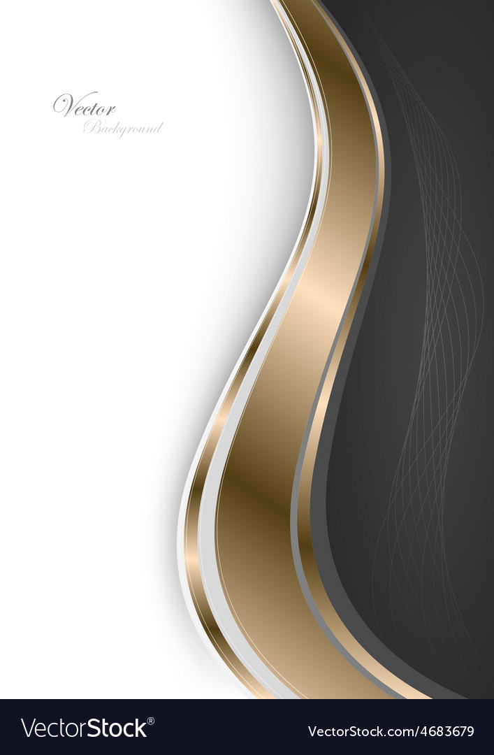 Stylish abstract gold background vector image