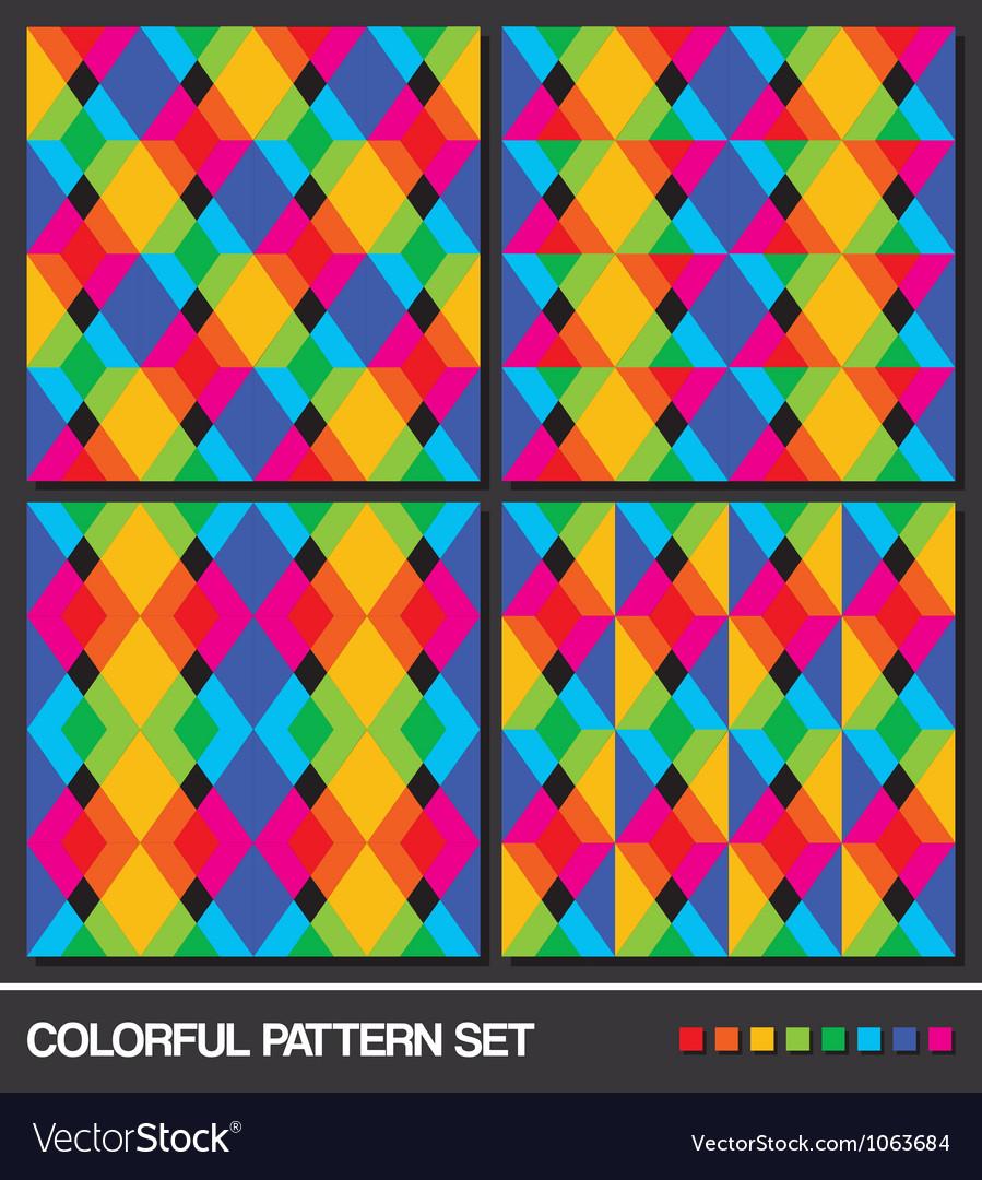 Colorful pattern set