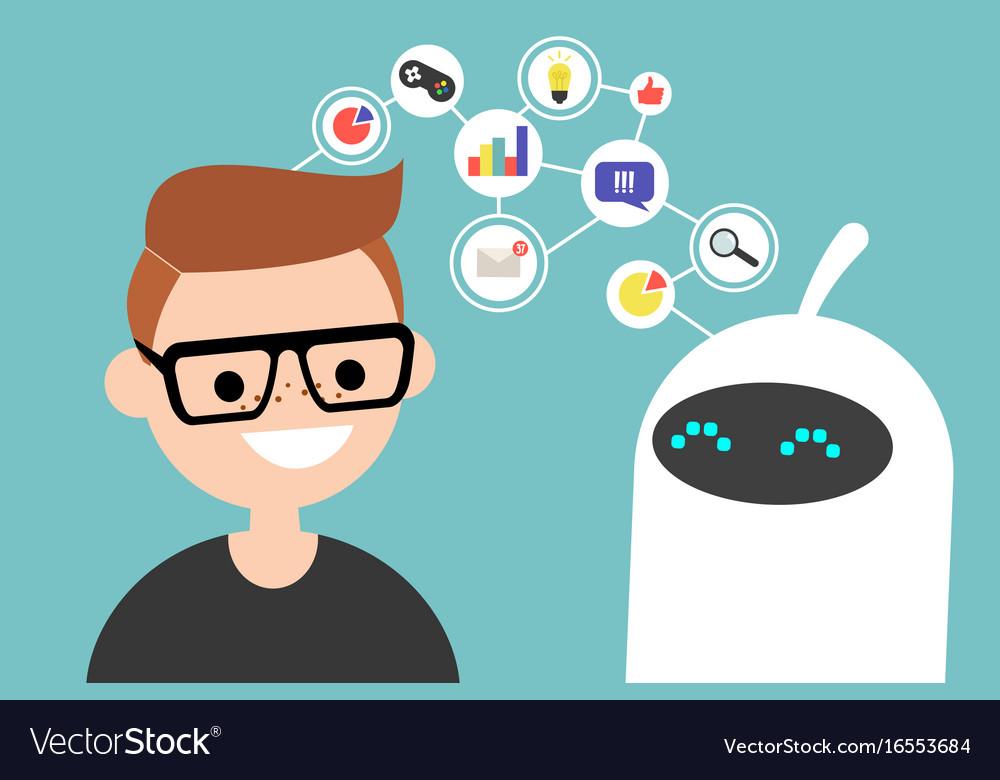 Data transfer conceptual human and robot