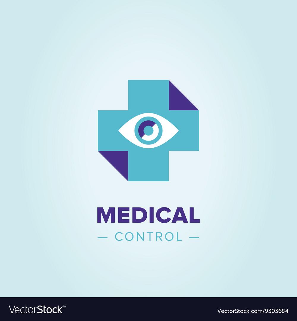 medic cross logo template royalty free vector image