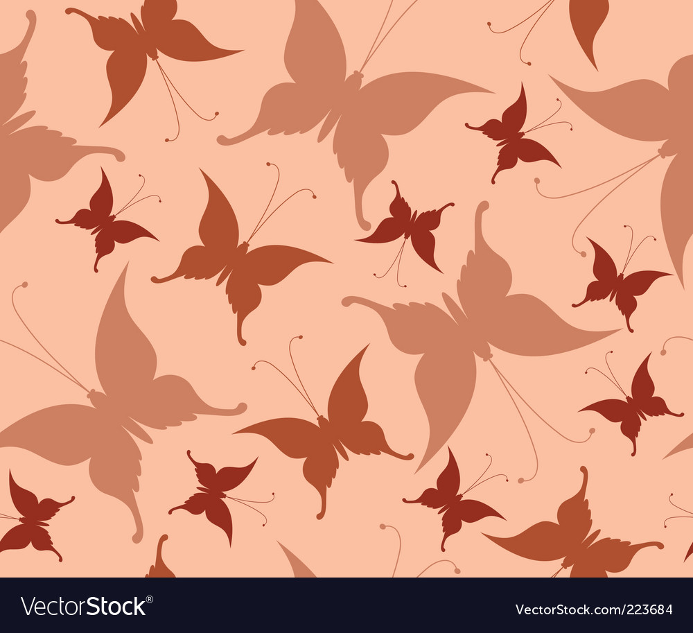 Seamless background with retro butterflies