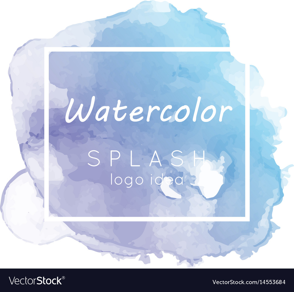 Watercolor logo design30 vector image