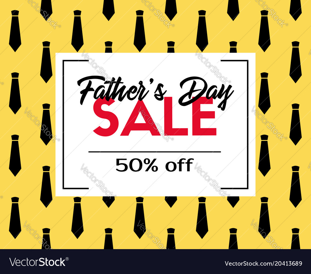 df00bc34eb80d Fathers day sale discount template Royalty Free Vector Image