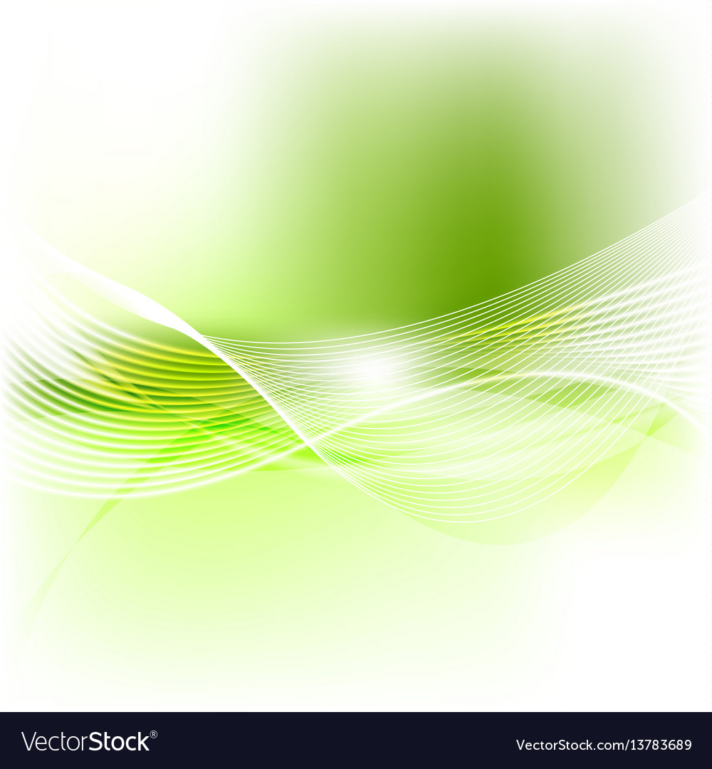 Green abstract smooth blurred waves background