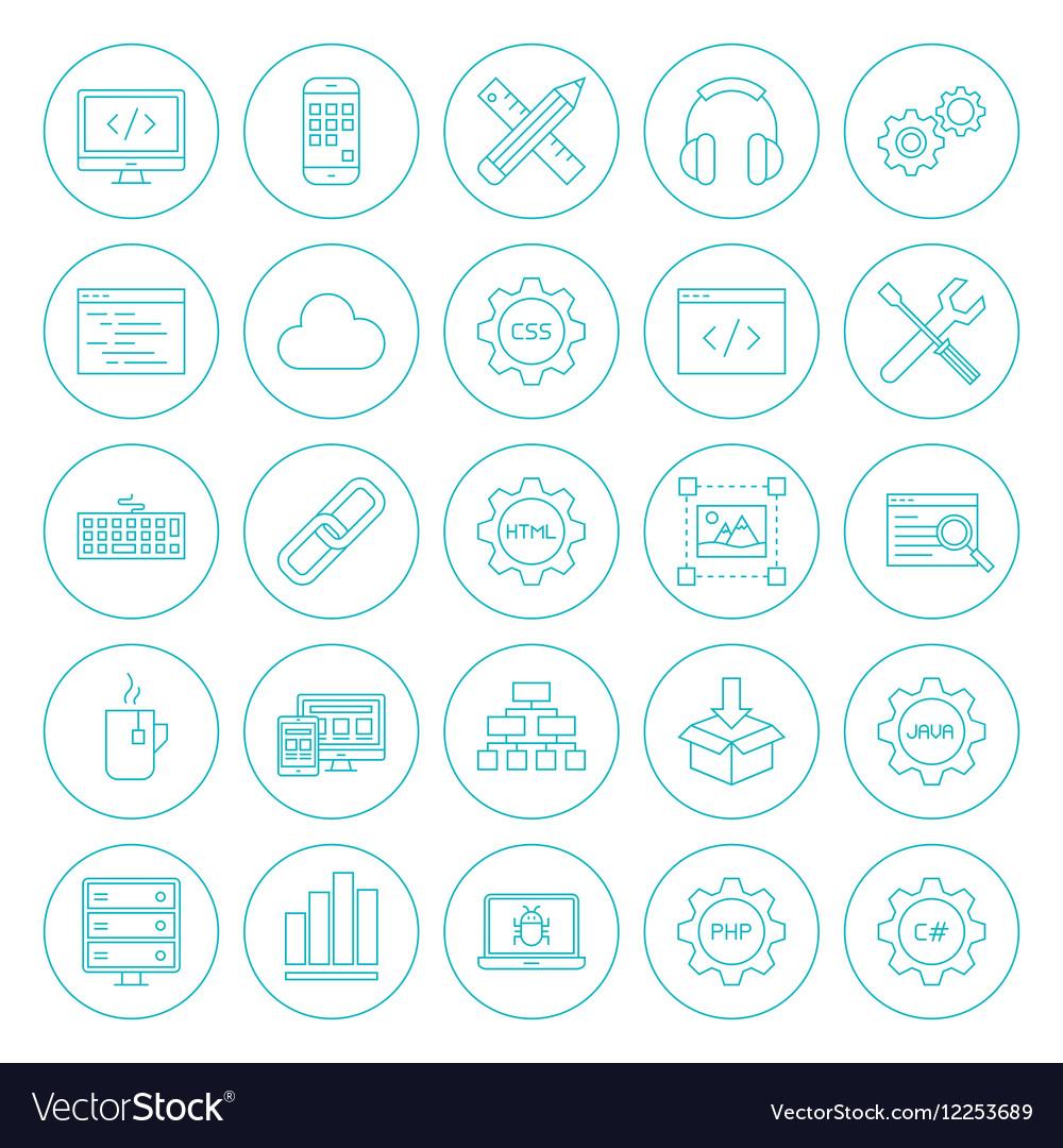 Line Circle Programming Icons