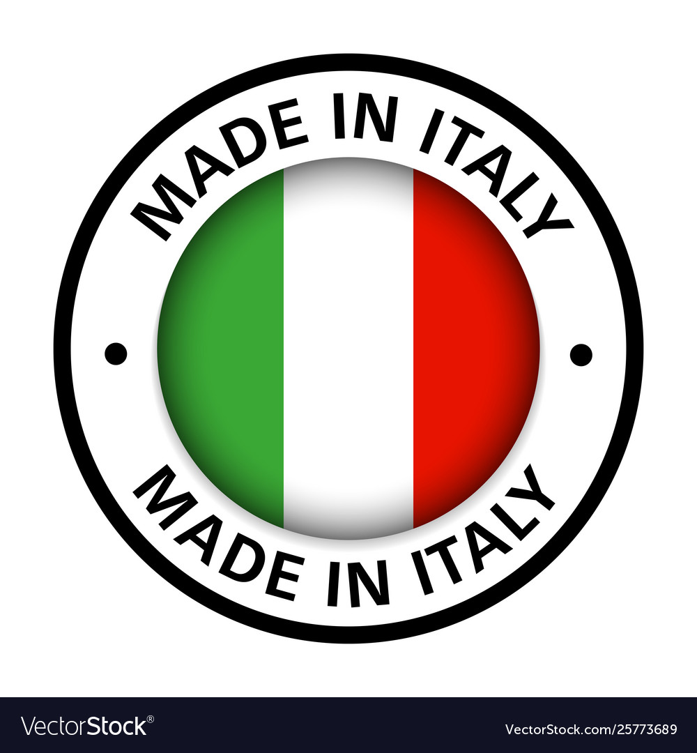 Made in italy flag icon Royalty Free Vector Image