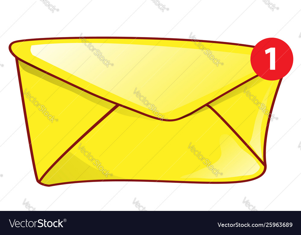 Mail envelope icon mail notification with red