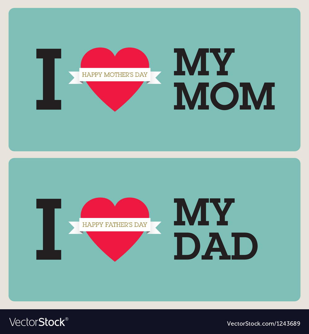 Mothers fathers day cards