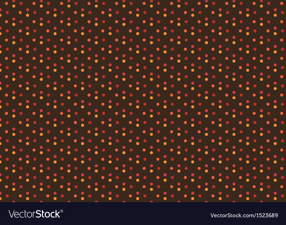 Sweet Autumn Polka Dot Seamless Pattern vector image