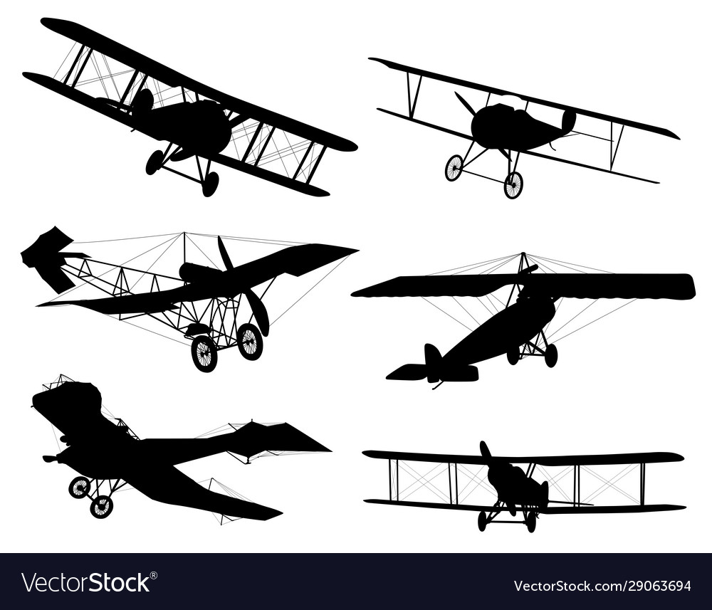 Biplanes silhouettes