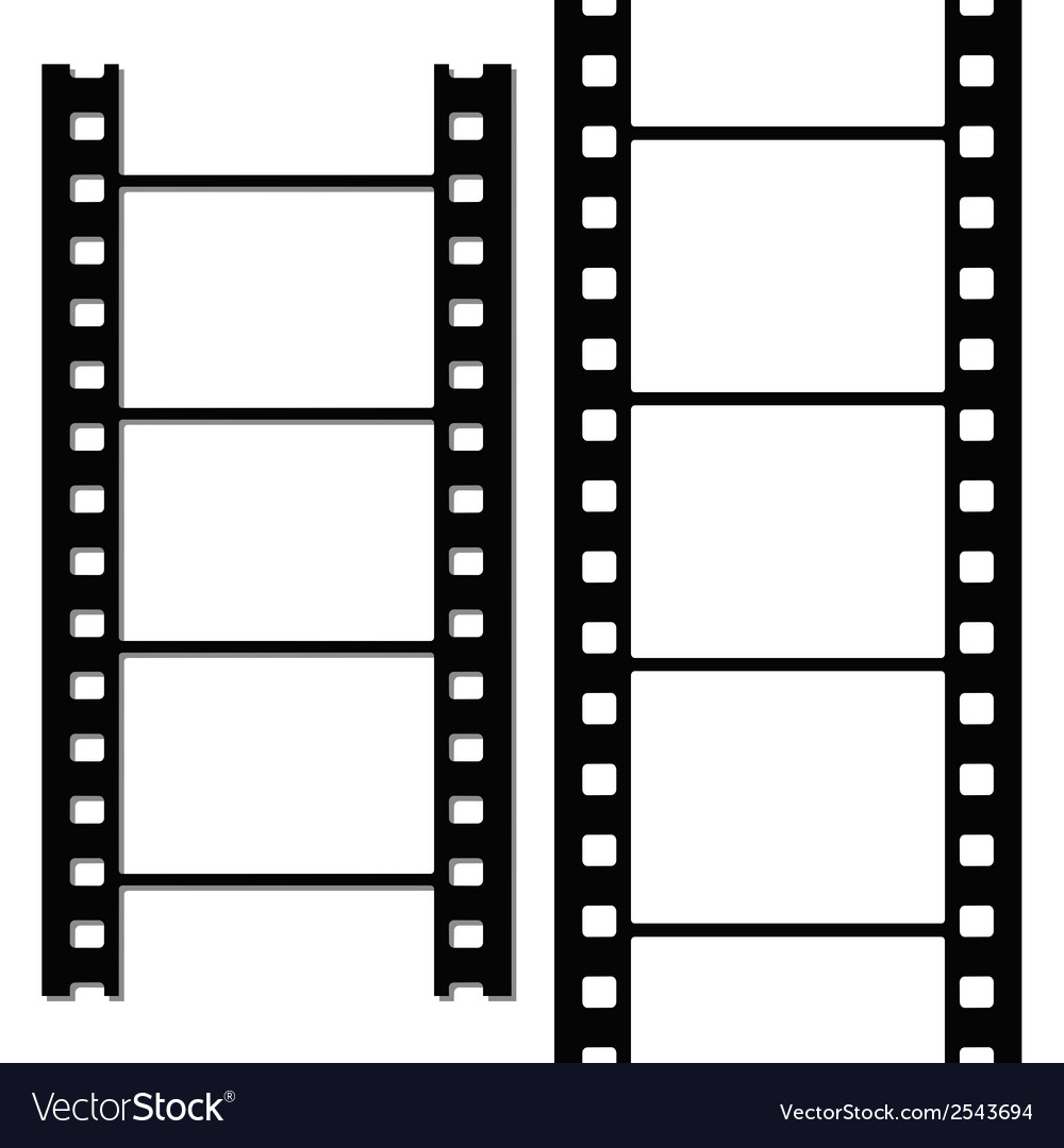 Blank simple film strip set