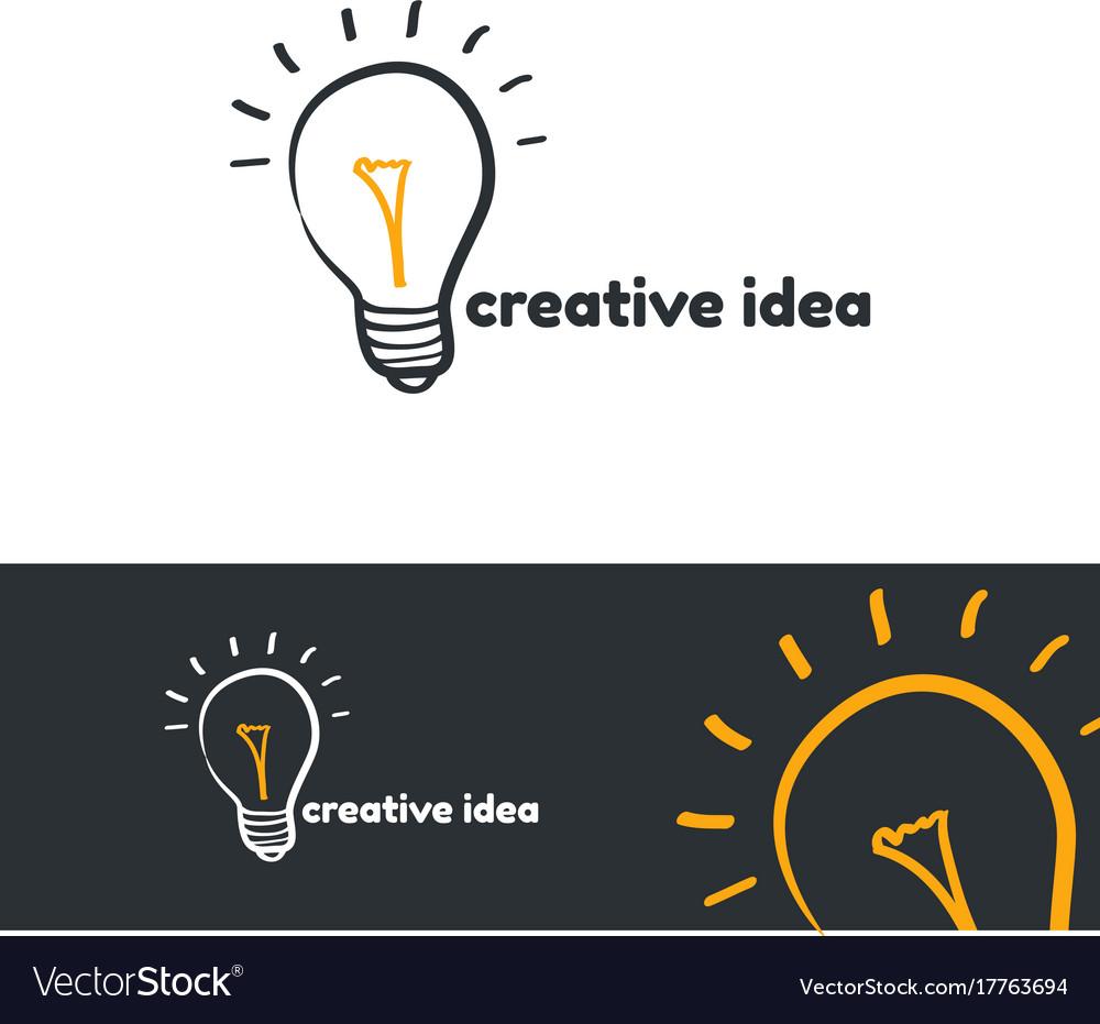 Creative idea logo template