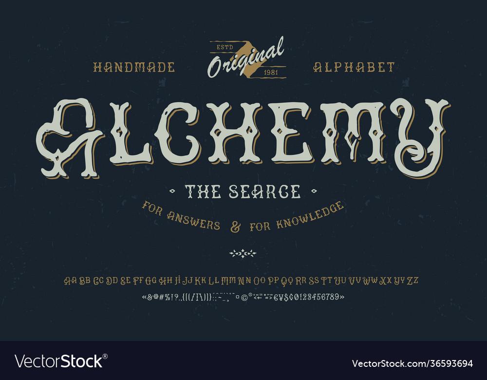 Font alchemy craft retro vintage typeface design