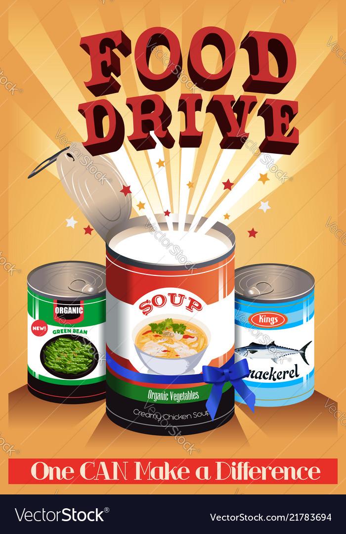 food drive poster royalty free vector image vectorstock