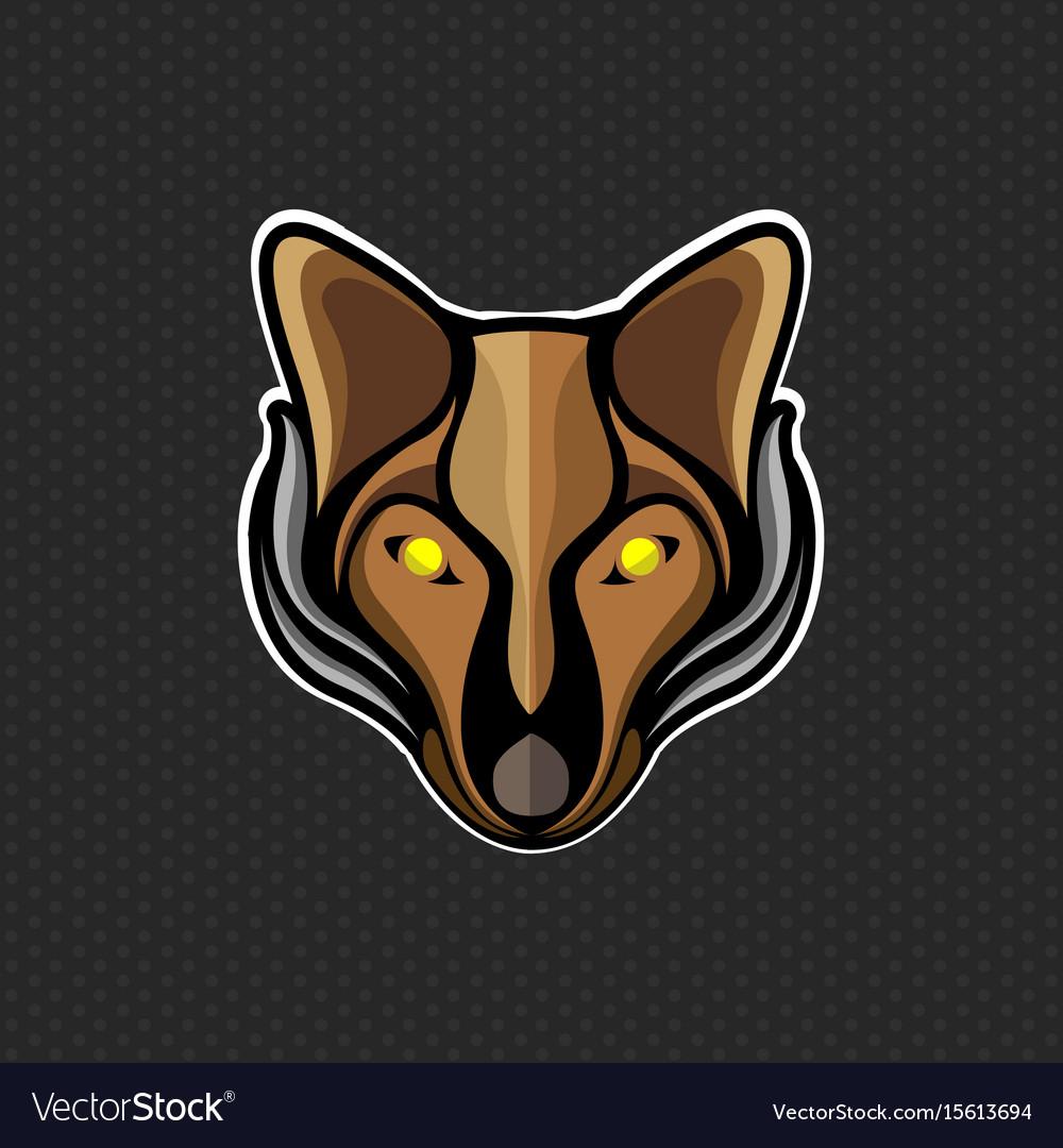 Fox logo design template fox head icon