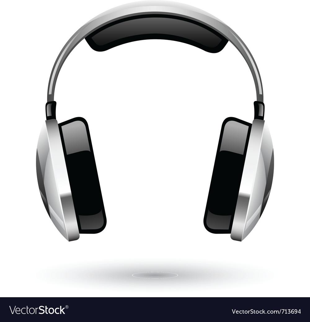 headphones royalty free vector image vectorstock rh vectorstock com  dj headphones vector free download
