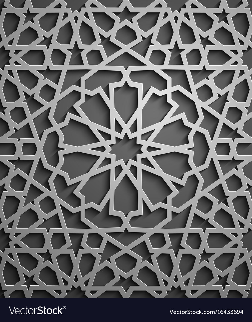 Islamic ornament persian motiff 3d