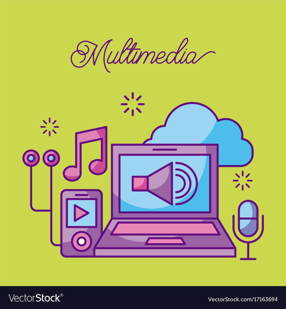 Multimedia laptop mp3 microphone music sound