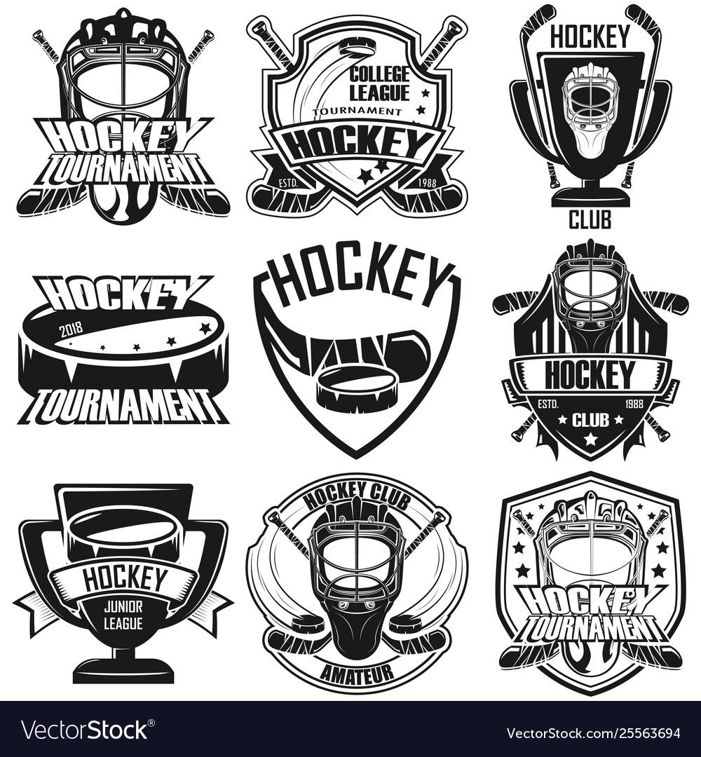 Set nine hockey badge