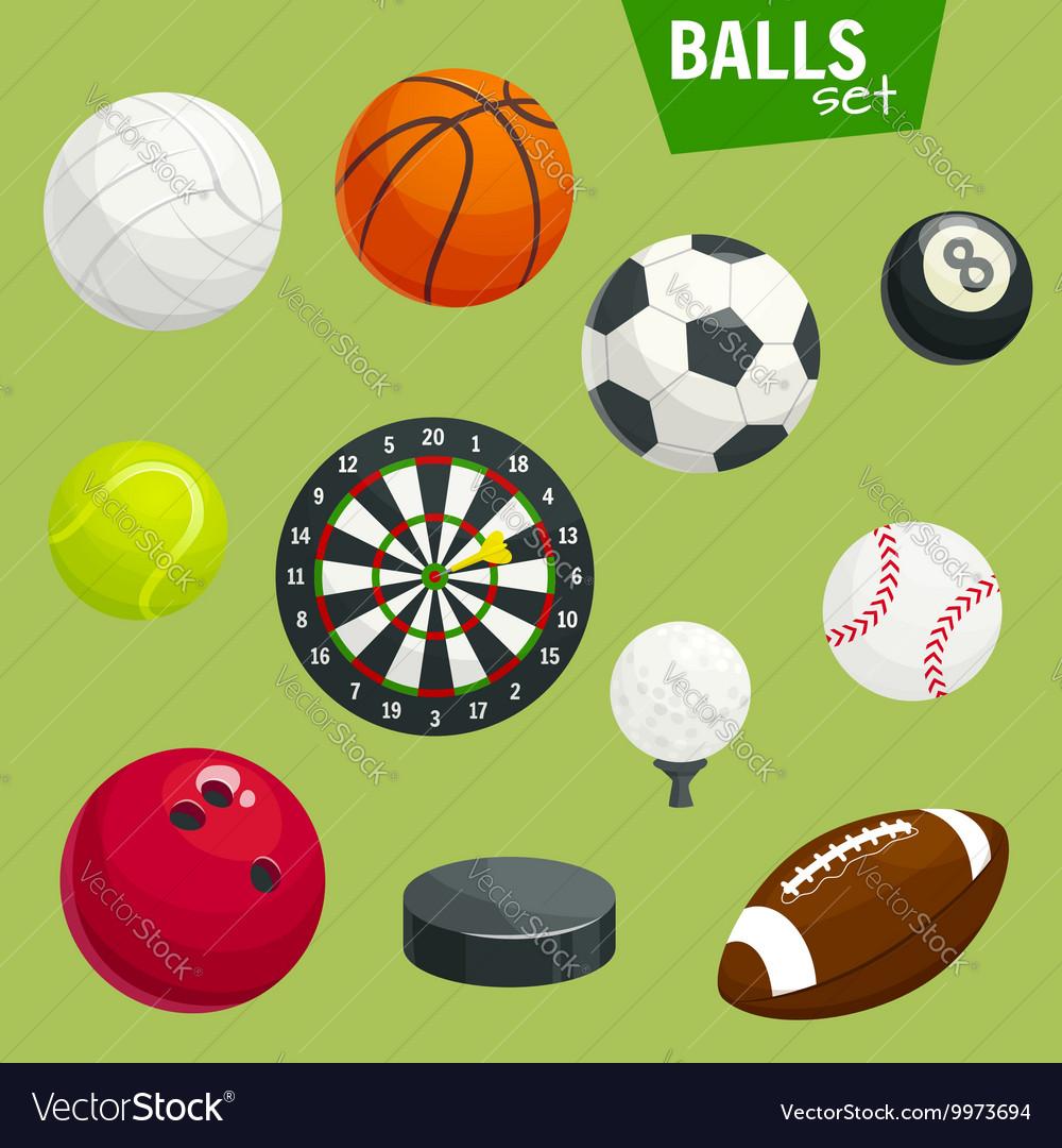 Sport balls set Sports gaming accessories