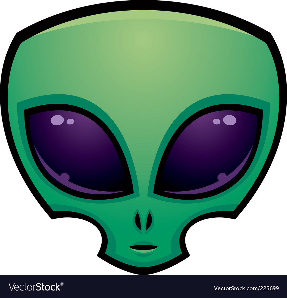 Alien head vector image