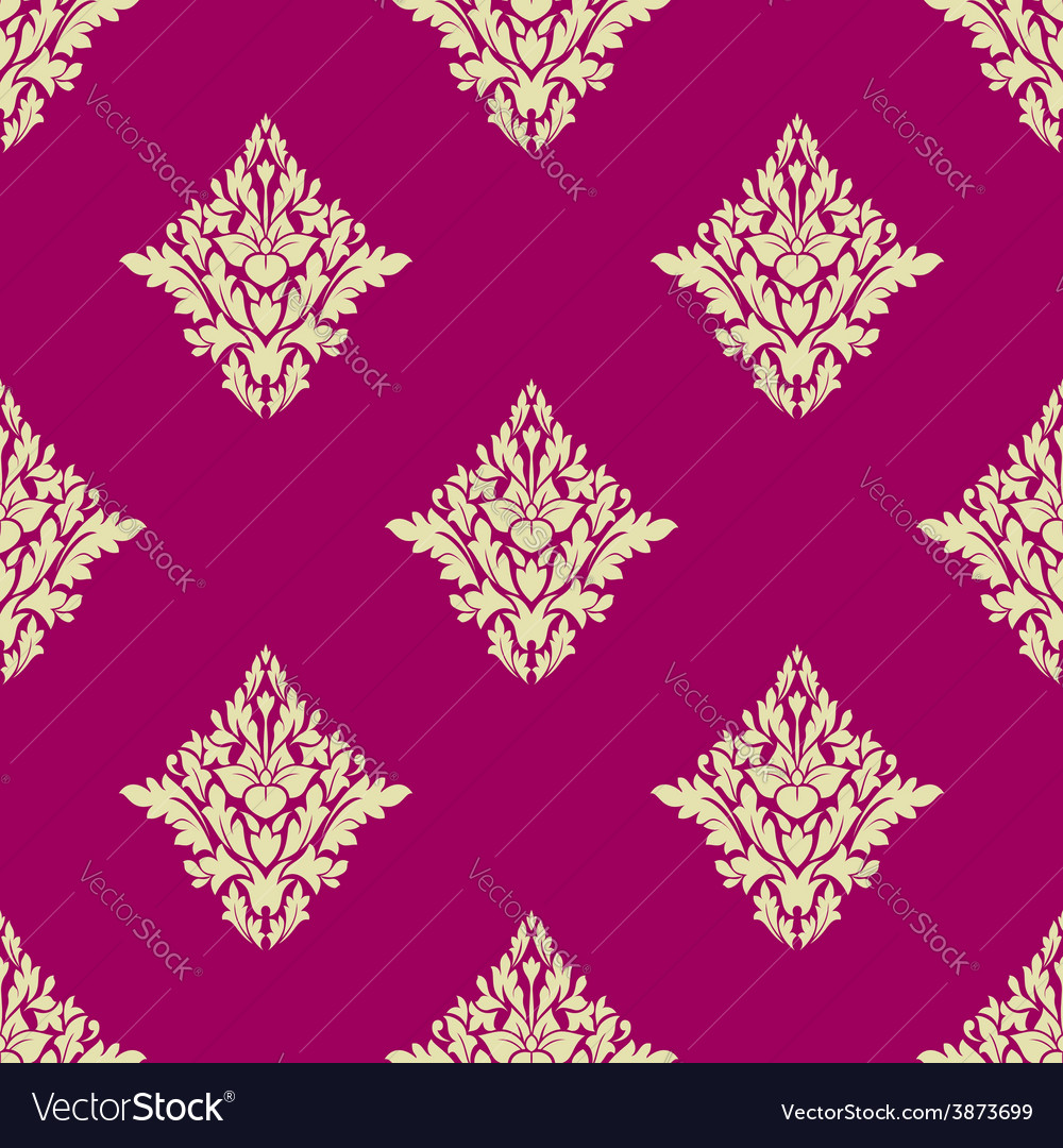 Delicate Beige Floral Seamless Pattern On Hot Pink