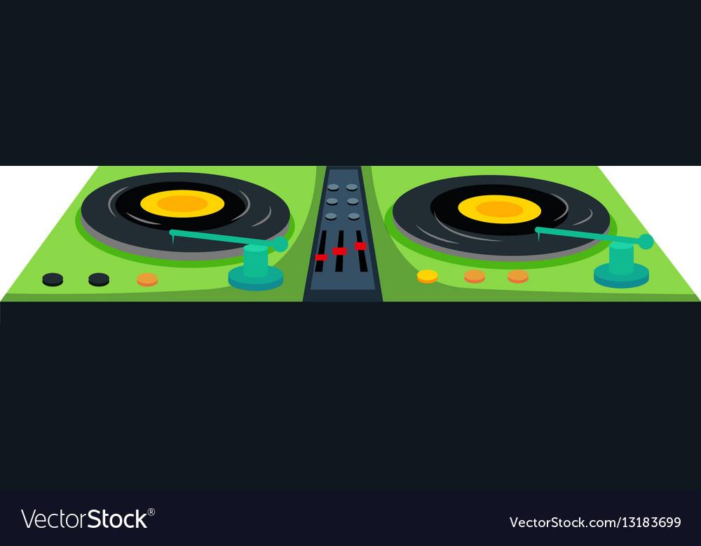 Disc jockey machine with sound control