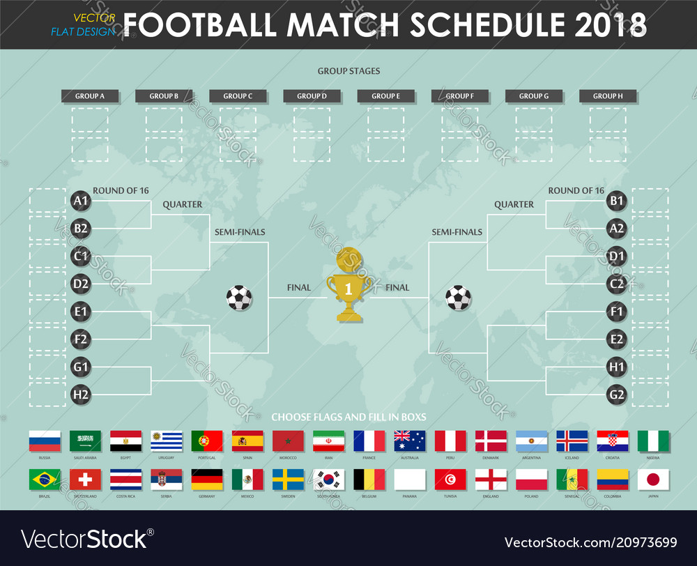 Football or soccer cup match schedule