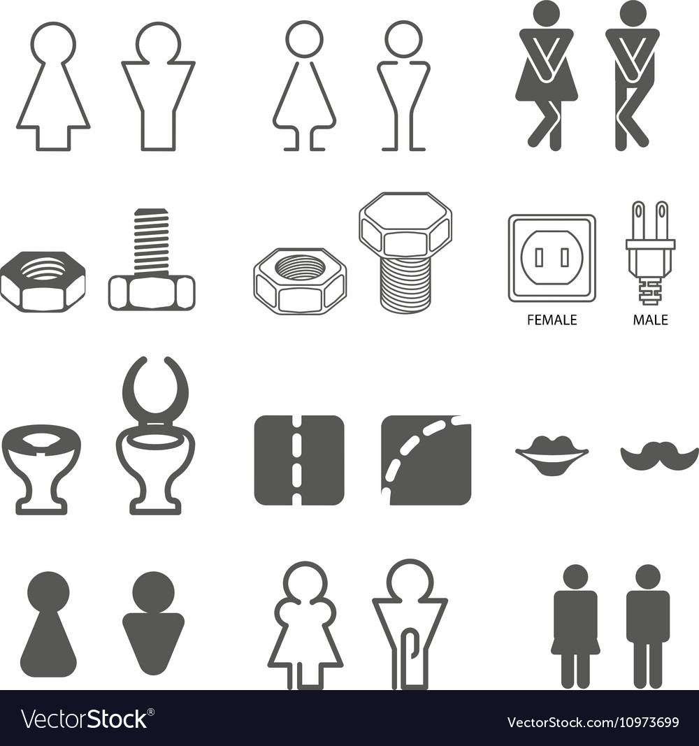 Male and female restroom symbols vector image