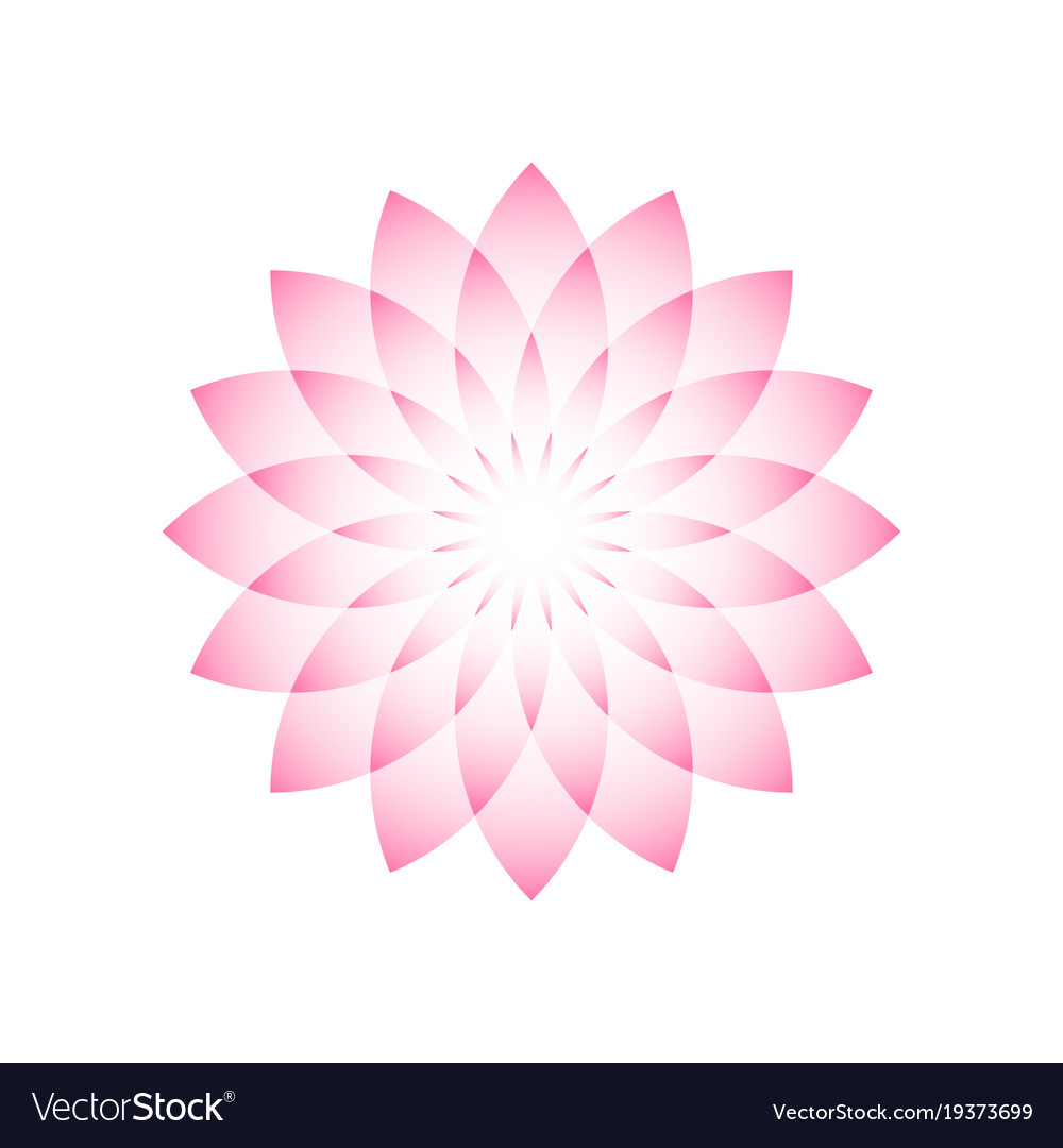 Pink lotus symbol of yoga wellness beauty and vector image izmirmasajfo