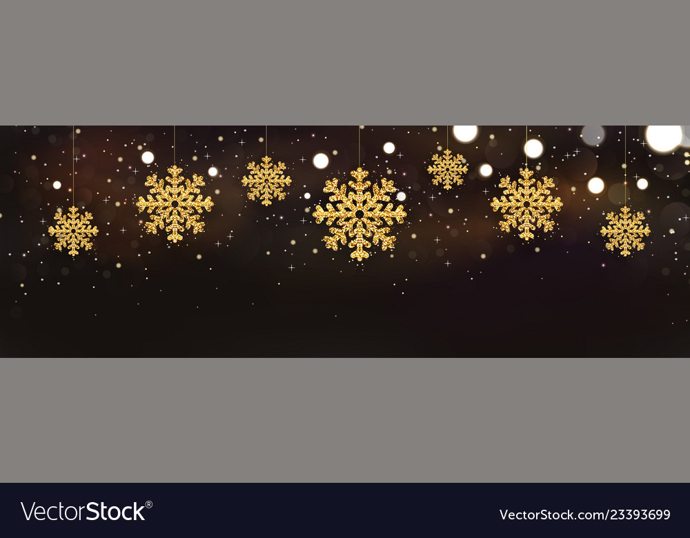 Shiny sparkling snowflakes on dark background