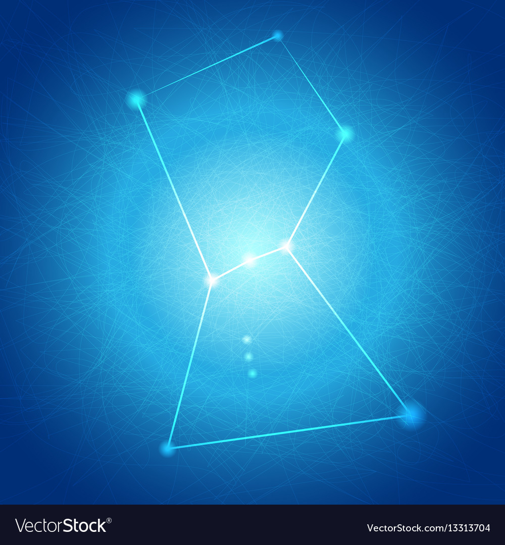 Abstract blue orion on tangle line background