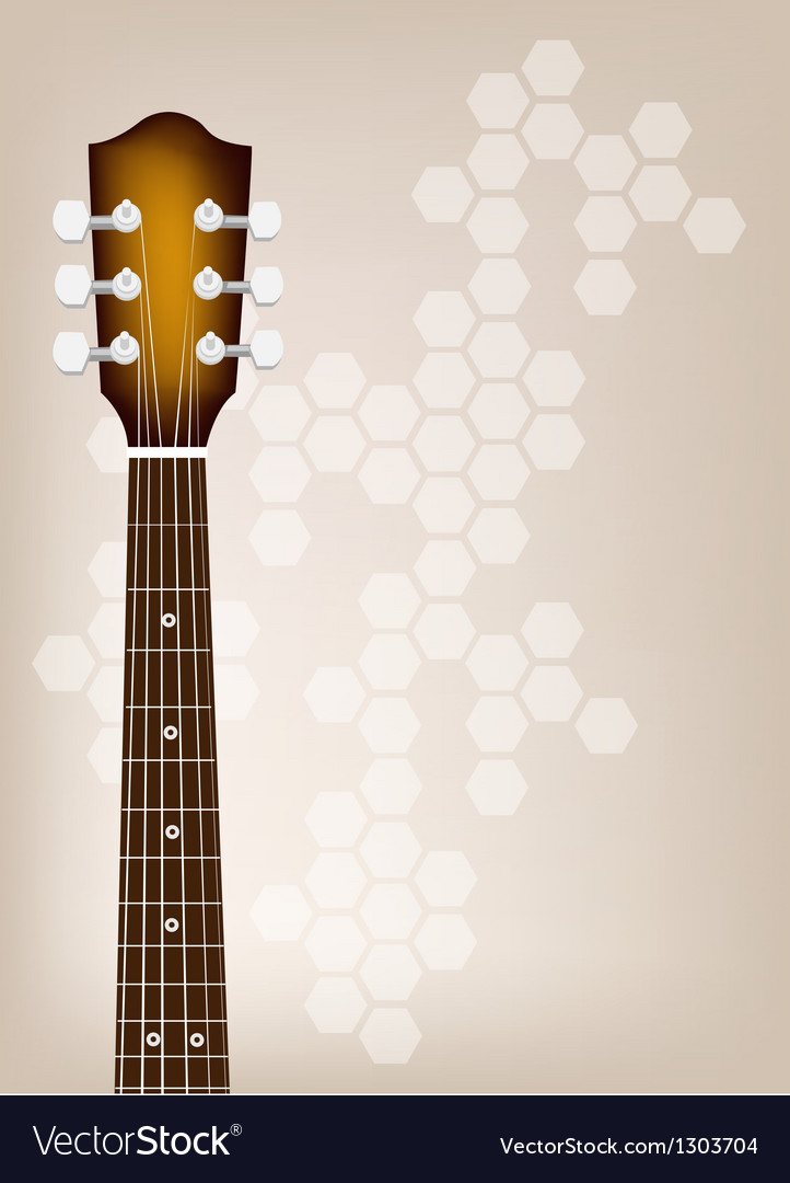 Acoustic Guitar Bridge on Brown Background vector image
