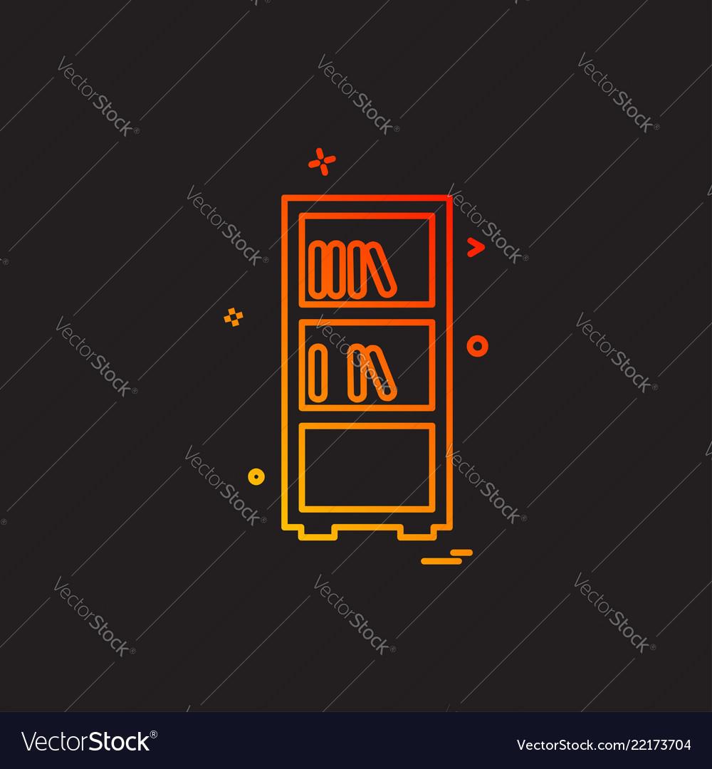 Books shelf icon design