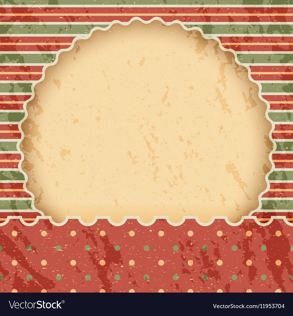 Christmas vintage paper background or frame Red