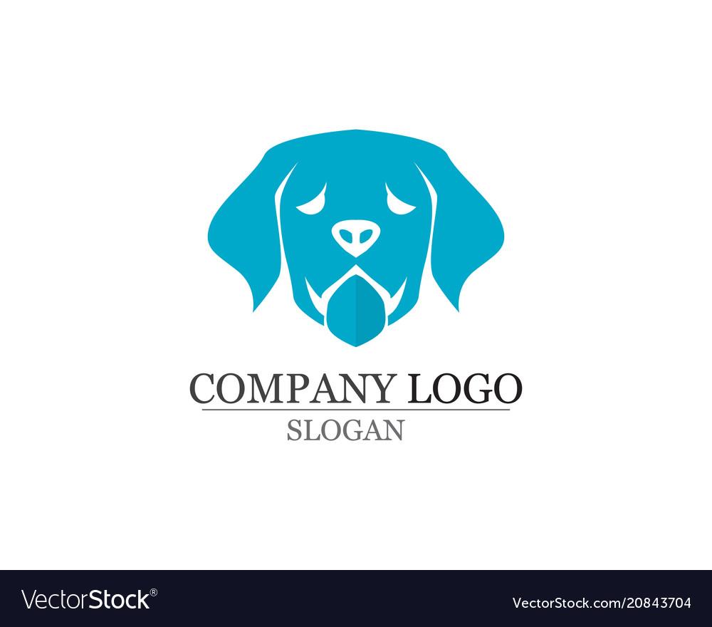 Dog Love Symbols Logo And Symbols Template Vector Image