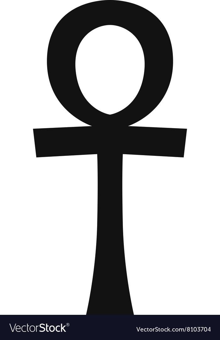 Egypt symbols Ankh Hieroglyph on white
