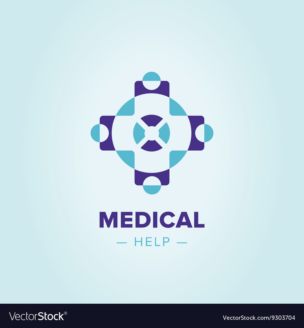 Medic cross logo template