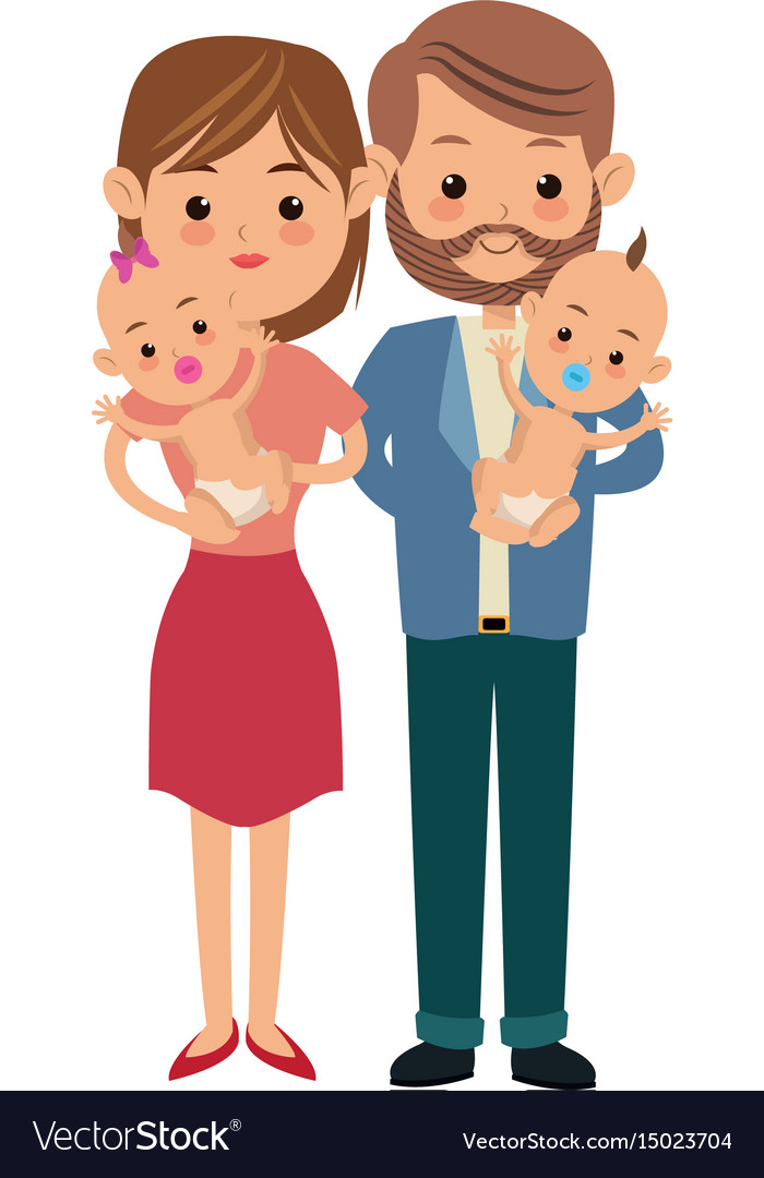 Mom Dad And Baby Girl Cartoon Images-2375