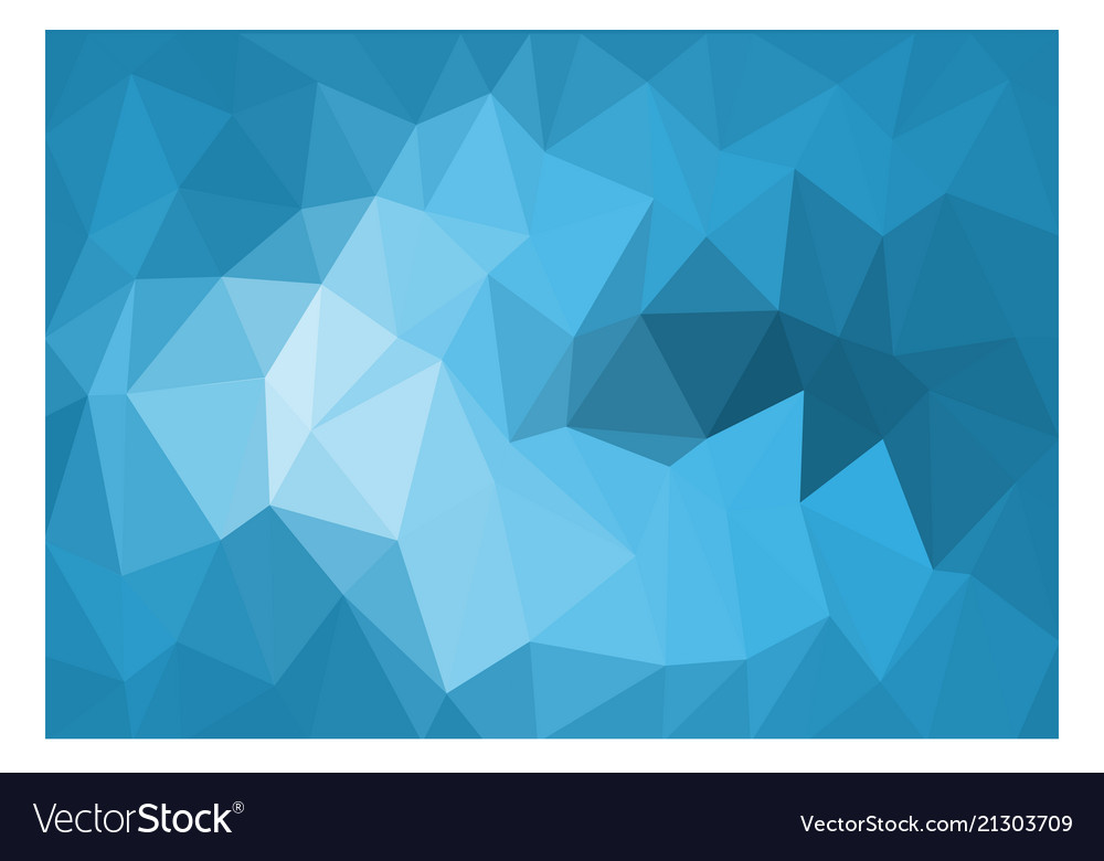 Abstract blue tone triangle polygon background