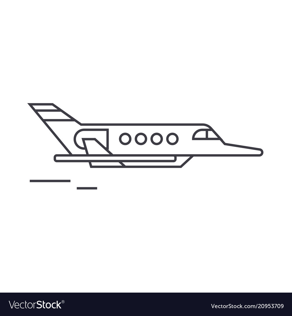 Aircraft thin line icon concept aircraft linear
