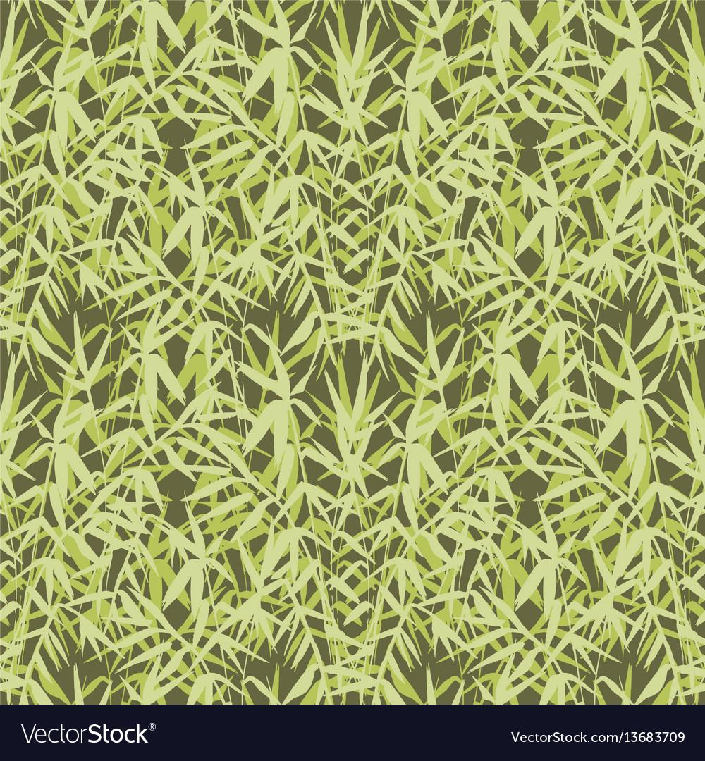 Bamboo seamless japanese pattern on green
