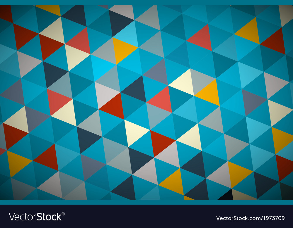 Blue Abstract Triangle Retro - Modern Background
