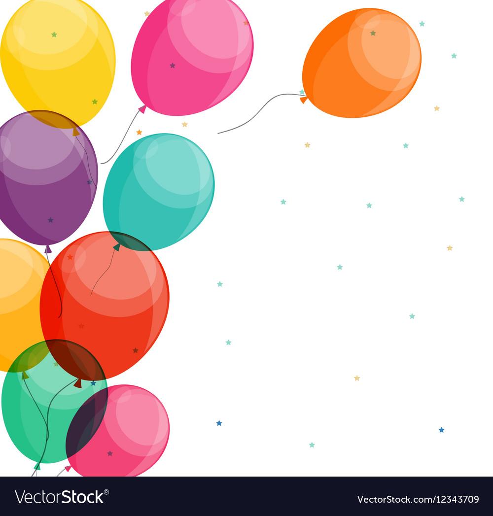 Glossy Happy Birthday Balloons Background vector image