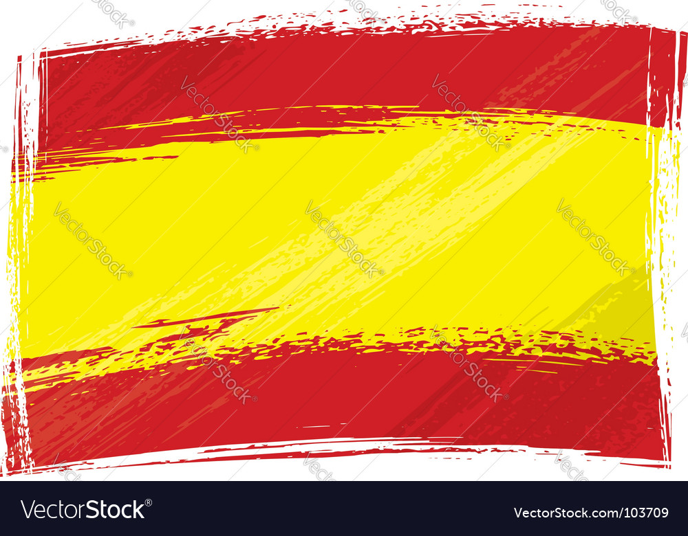 Grunge Spain flag vector image