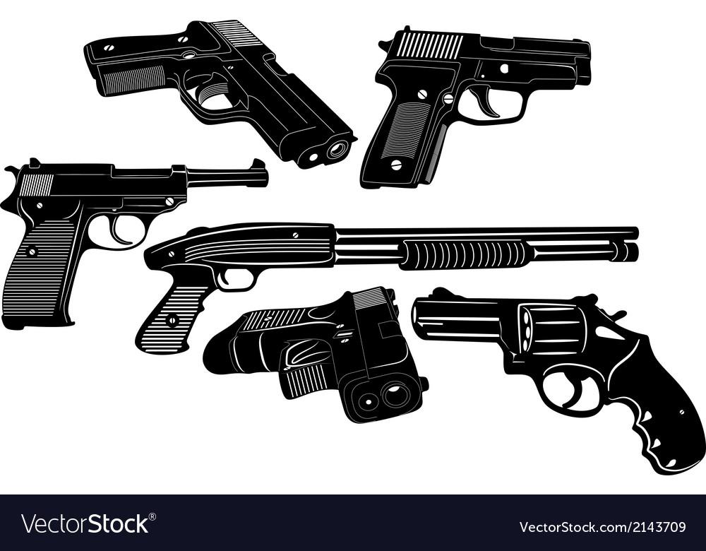 Gun Set 1 vector image