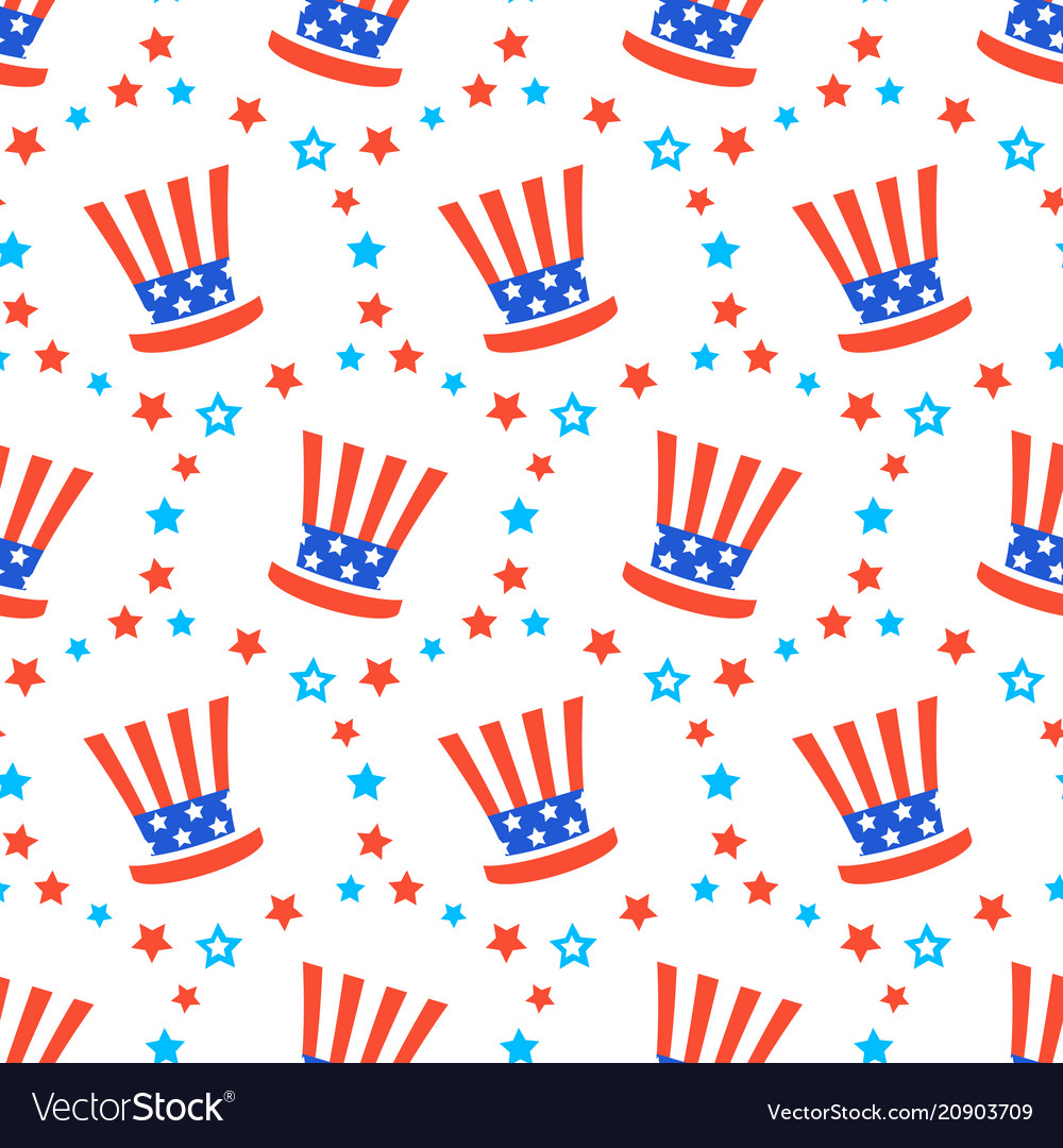 Independence day america festive pattern