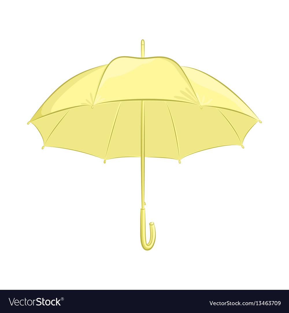 Realistic umbrella female or male accessory the vector image